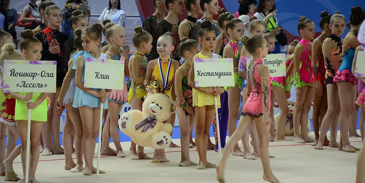 Гимнастика, команда из Костомукши в Казани