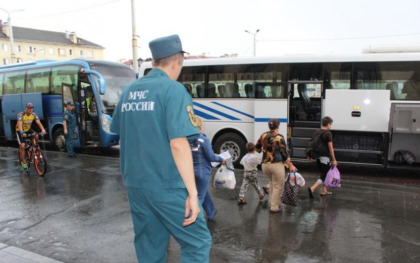 беженцы автобус