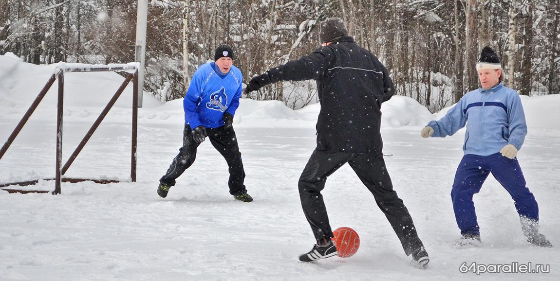 футбол на снегу на сайт