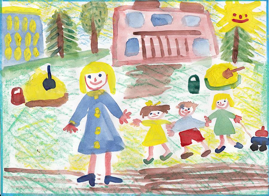 Рисунок воспитателю детского сада своими руками 77