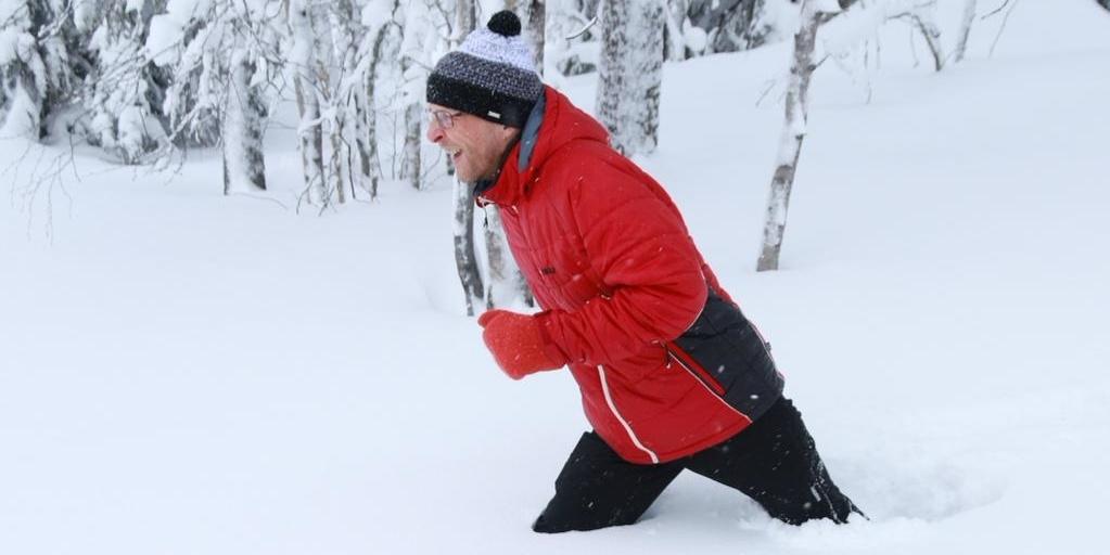 финн в снегу