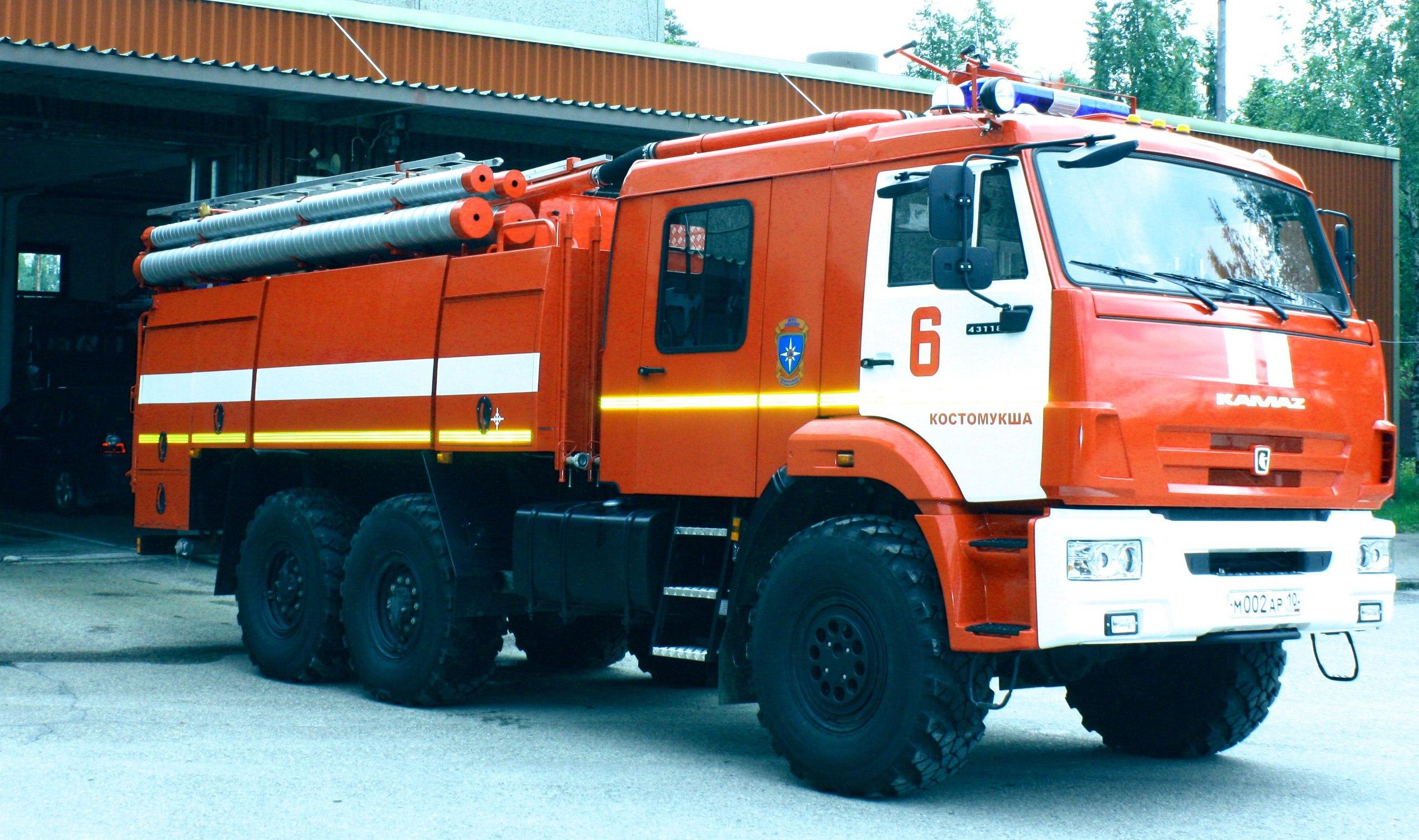 пожарные_новая машина