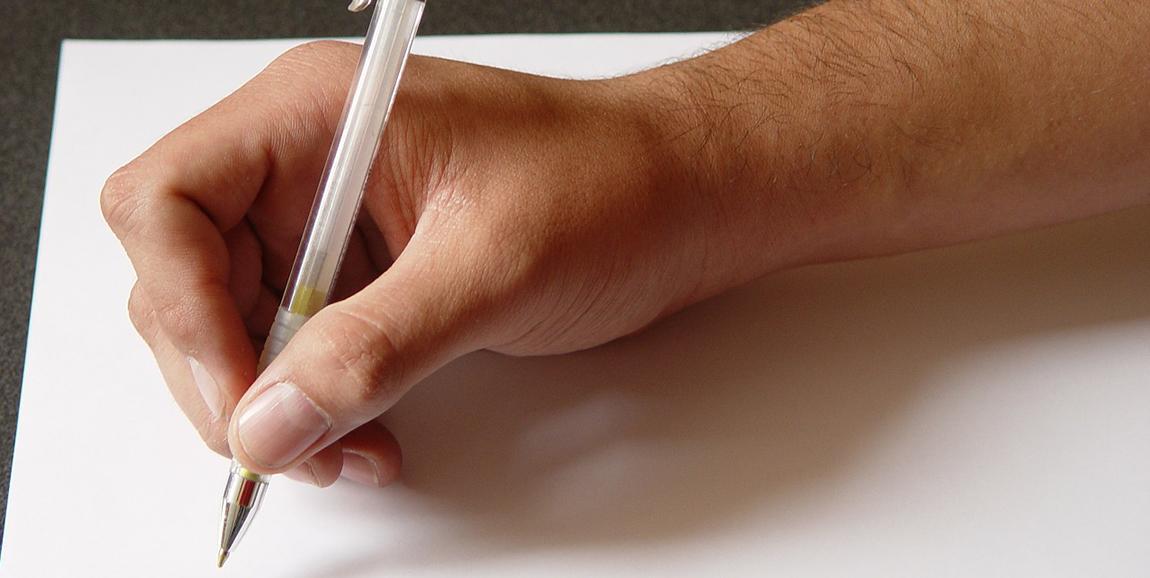 рука письмо бумага пиксабай