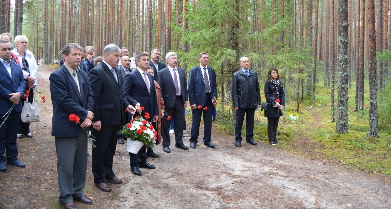 Сандармох Церемония открытия памятника