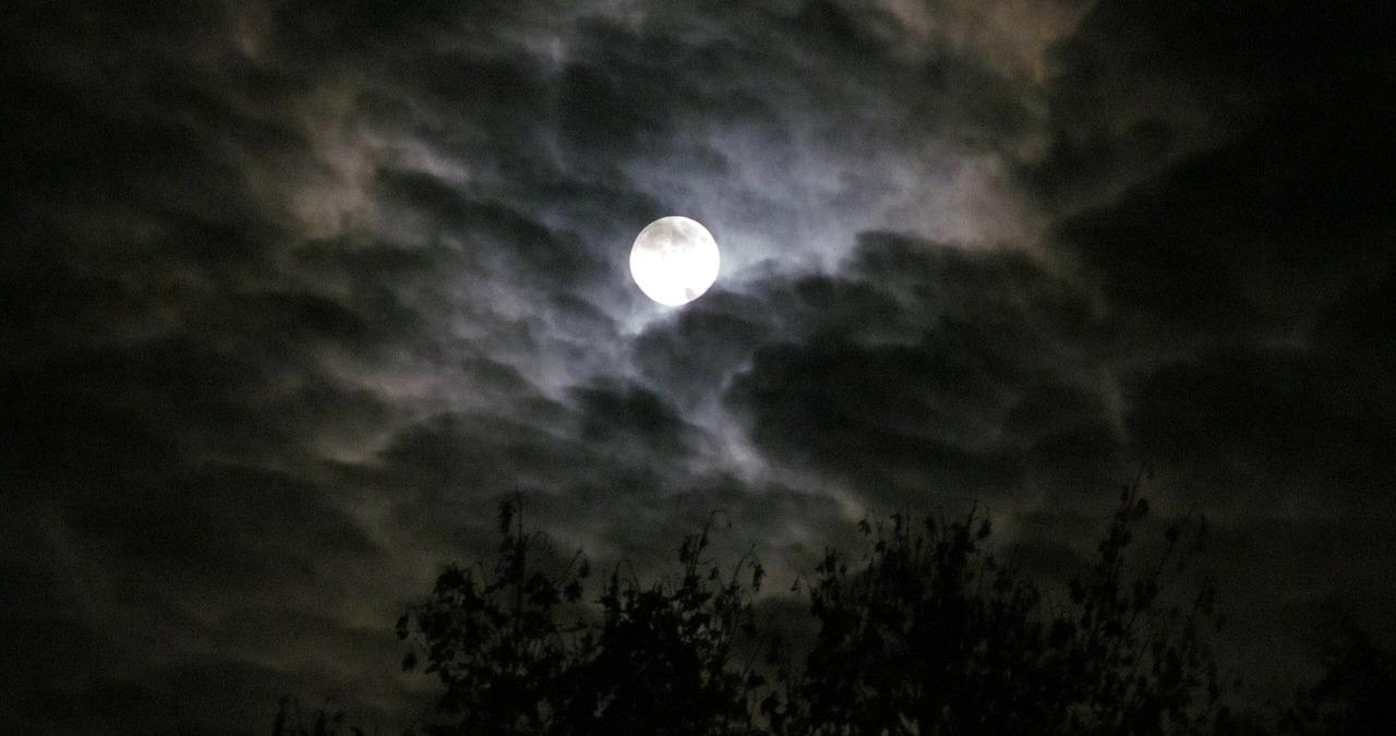 ночь темно луна пиксабай