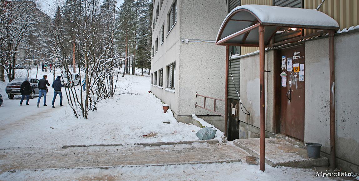 Общежитие Горняков мусор (5) сжат подъезд