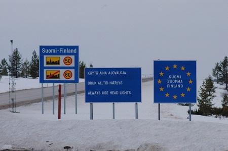 На границе Финляндии