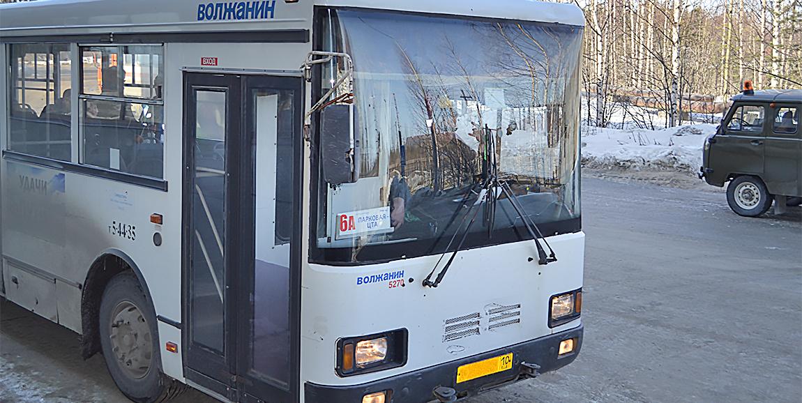 автобус Волжанин сжат