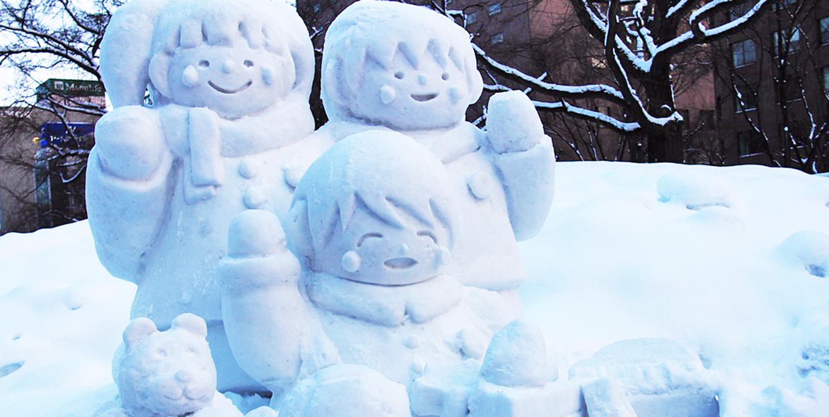 снежная фигура зима пиксабай