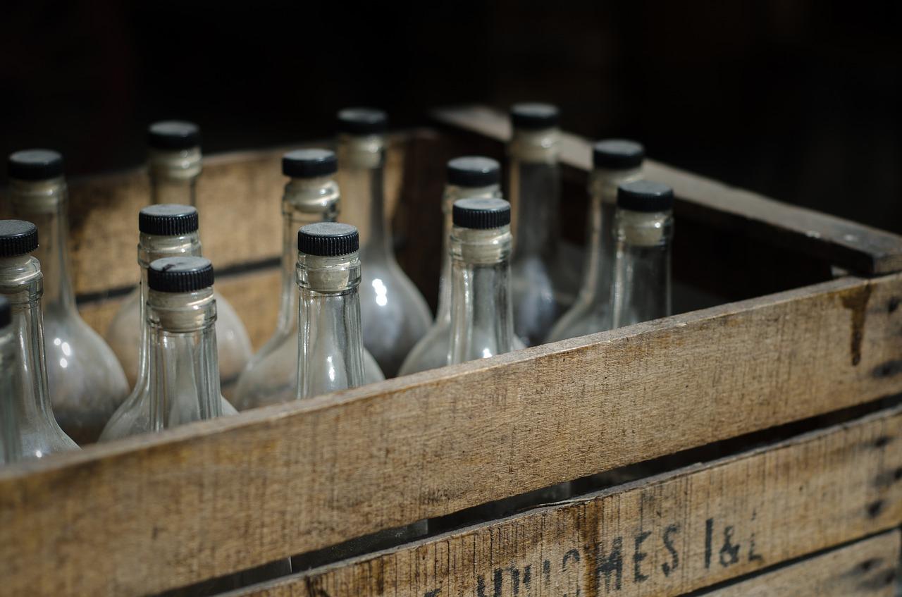 бутылки алкоголь ящик Пиксбэй