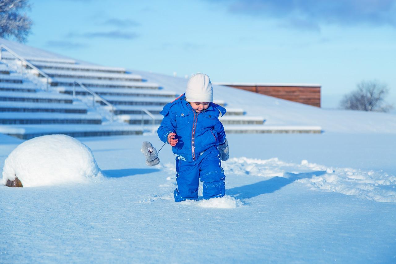 снег ребенок Пиксбэй