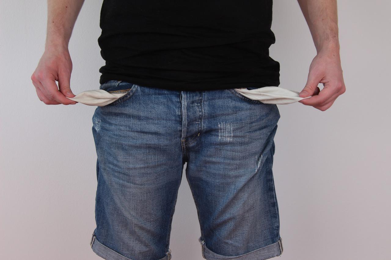 бедностьденьги пустые карманы Пиксбэй