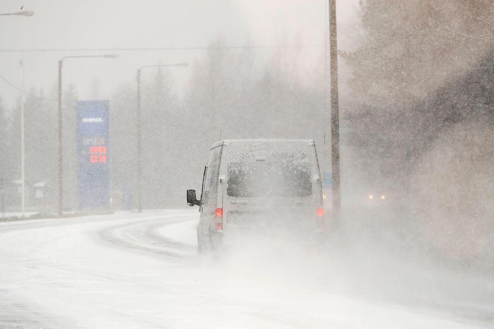 снег дорога Юле