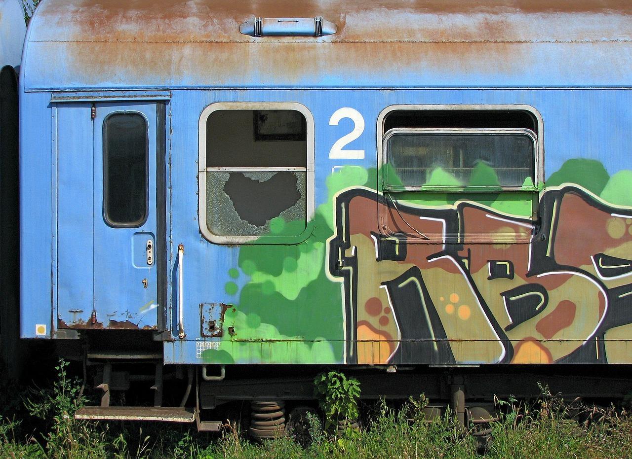 поезд граффити Пиксбэй