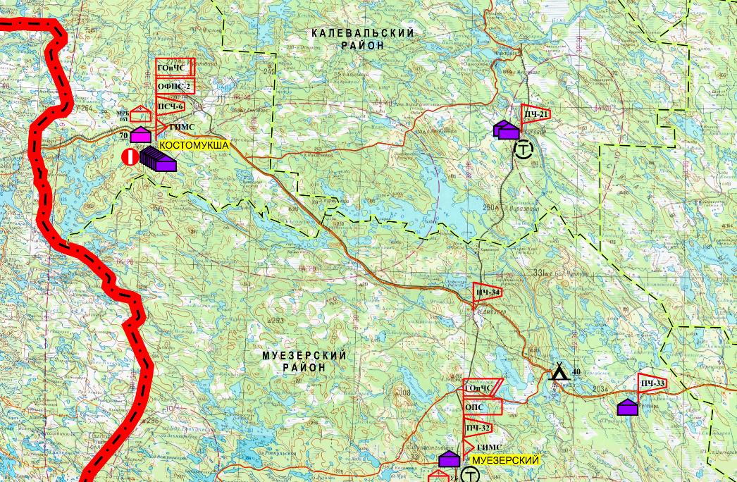 карта лагерей