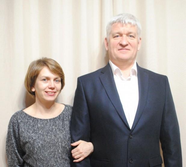 Сергей Юрьевич Чернышев с супругой Еленой Ивановной Лотош