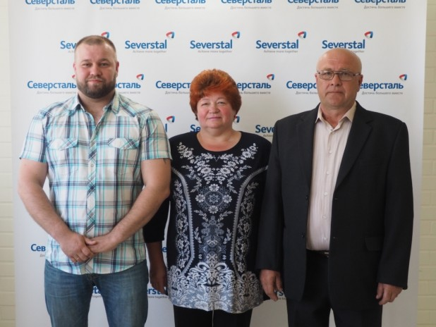 Евгений, Анна Ивановна и Борис Аркадьевич Никитины