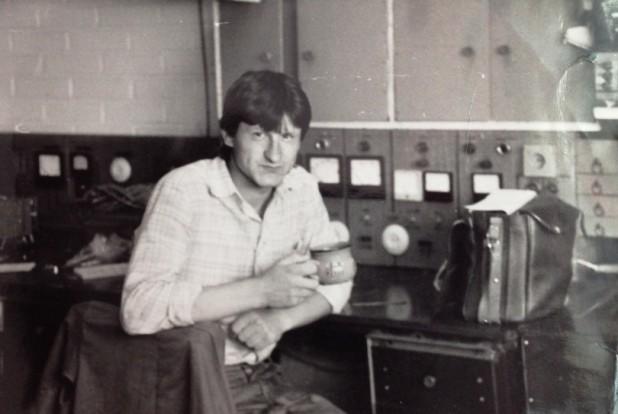 Владимир Анатольевич Лантух на рабочем месте, 1989 год