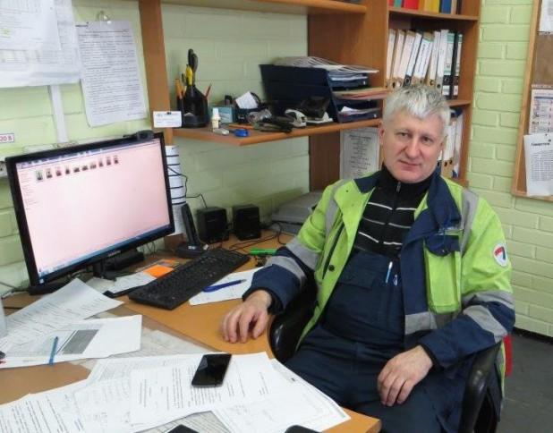 Владимир Анатольевич Лантух на рабочем месте, 2017 год