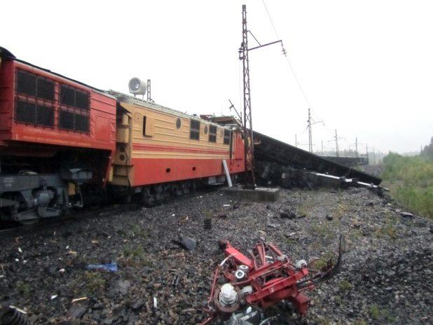 столкновение поездов на Карельском окатыше