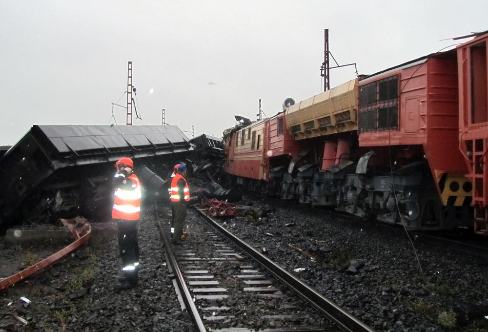 авария поездов на Карельском окатыше