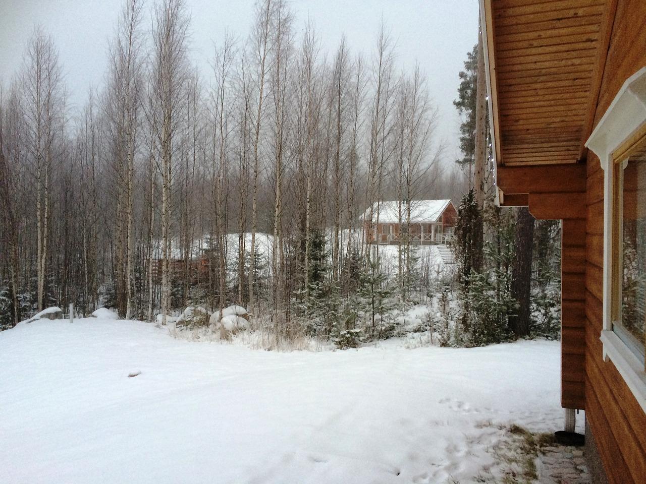 зима дача деревня участок пиксабай