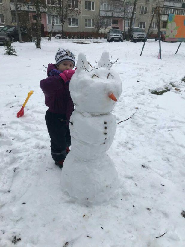 Снеговик от семьи Борзенковых