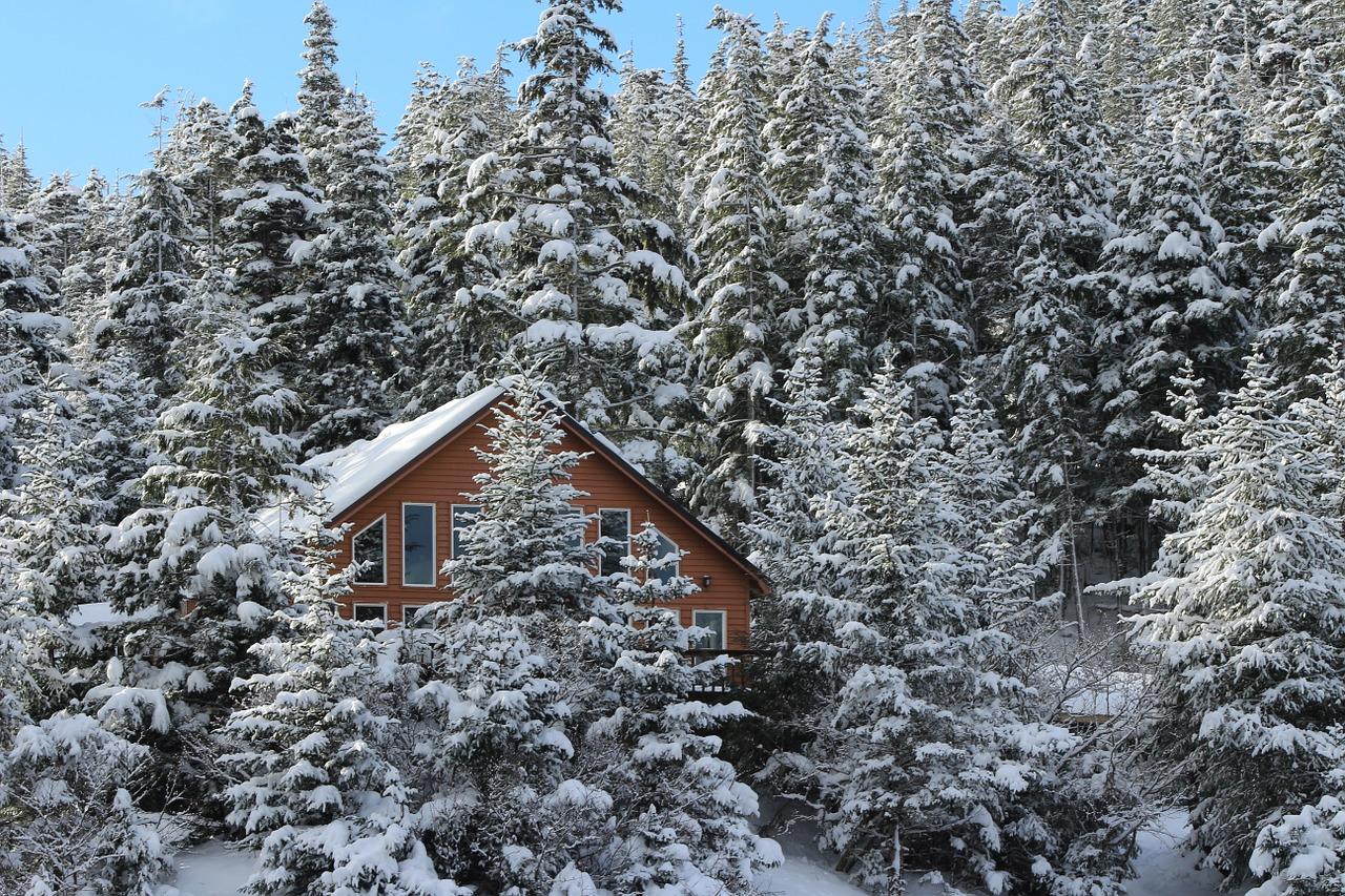зима дом пиксабей