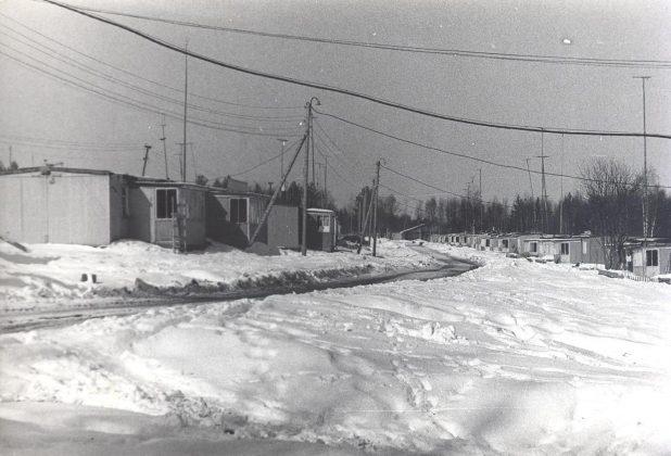 Конец 70-х. Щитовые домики в поселке Контокки