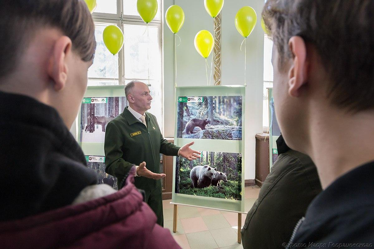 выставка заповедника на вокзале в Петрозаводске