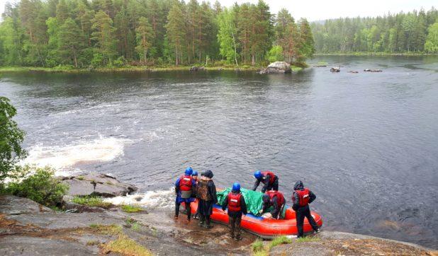 Сплав проходил по маршруту озеро Верхнее Пиртоярви – река Вуокки – озеро Кенас