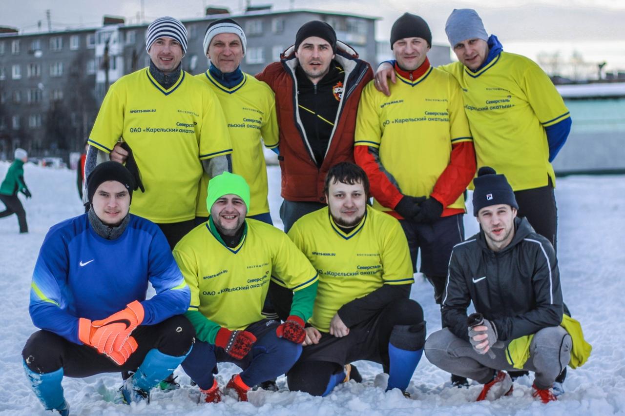 футбол на снегу комбинат