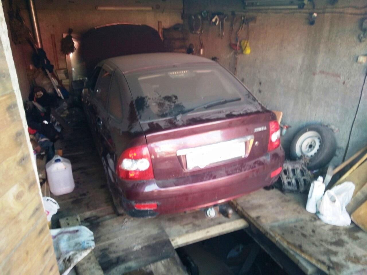 пожар в гараже