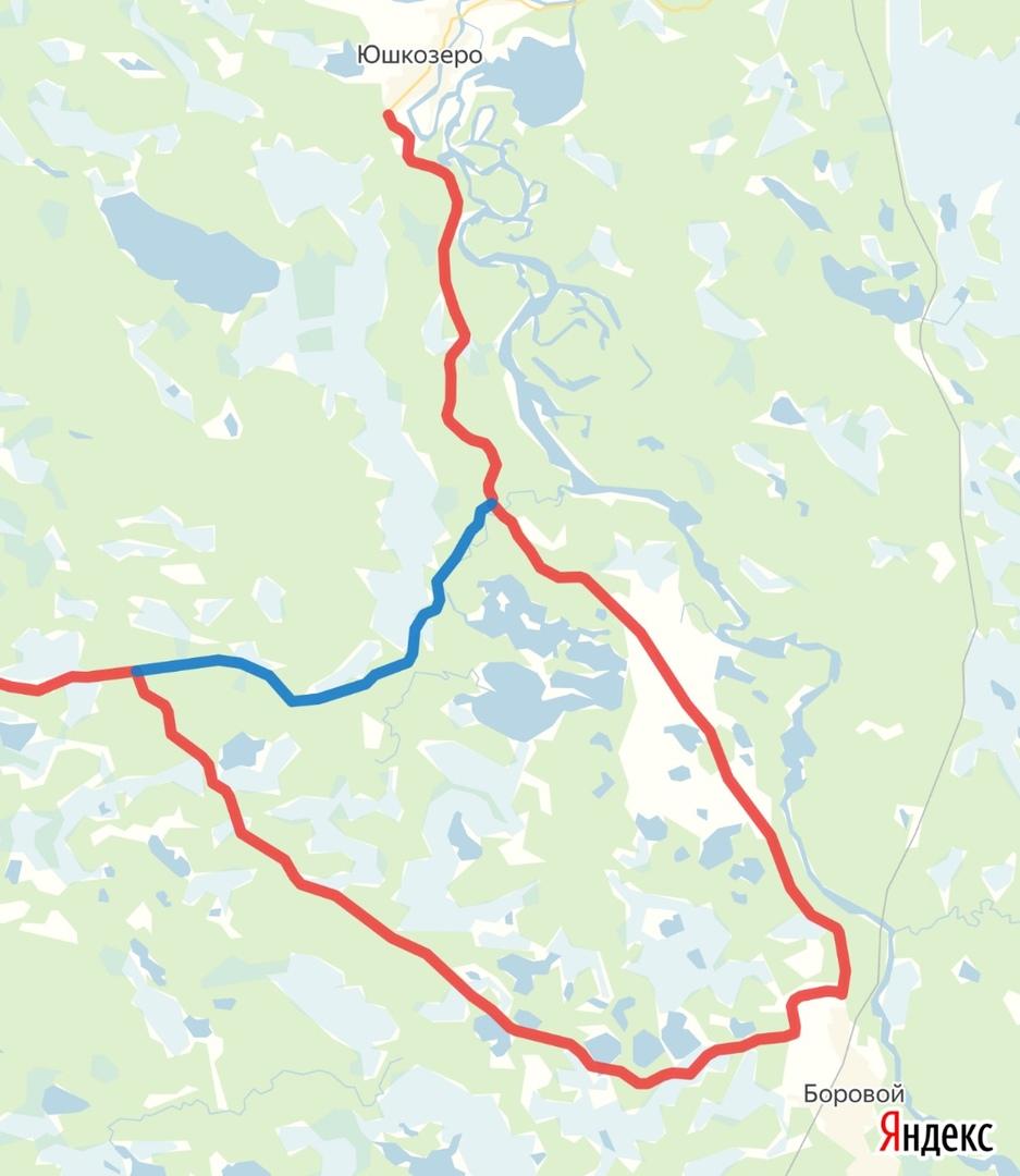 дорога на юшкозеро через боровой