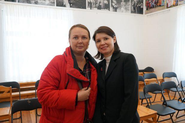 Ольга Воробьева и Елена Гусева - организатор концерта