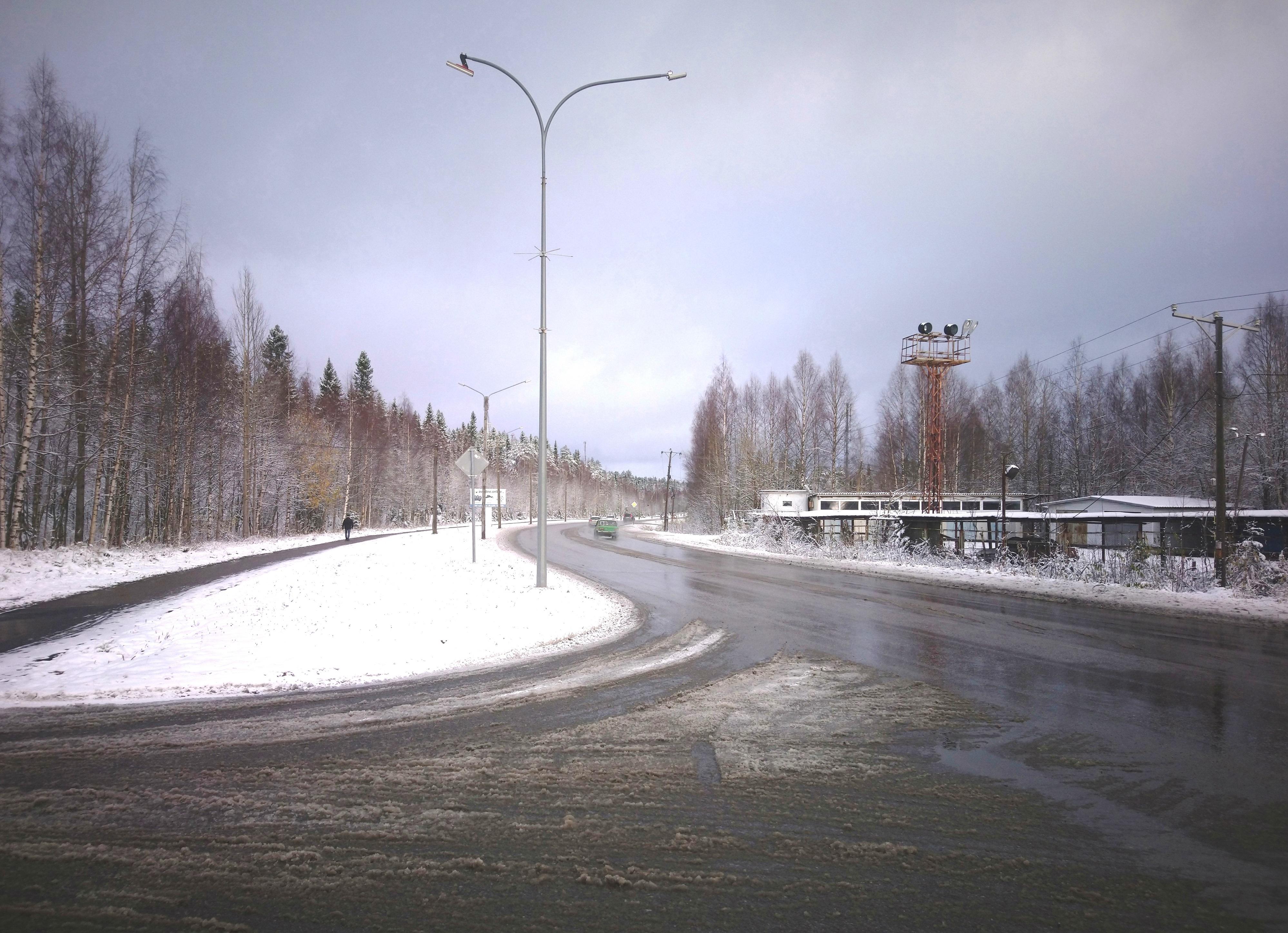 Костомукша снег дороги уборка