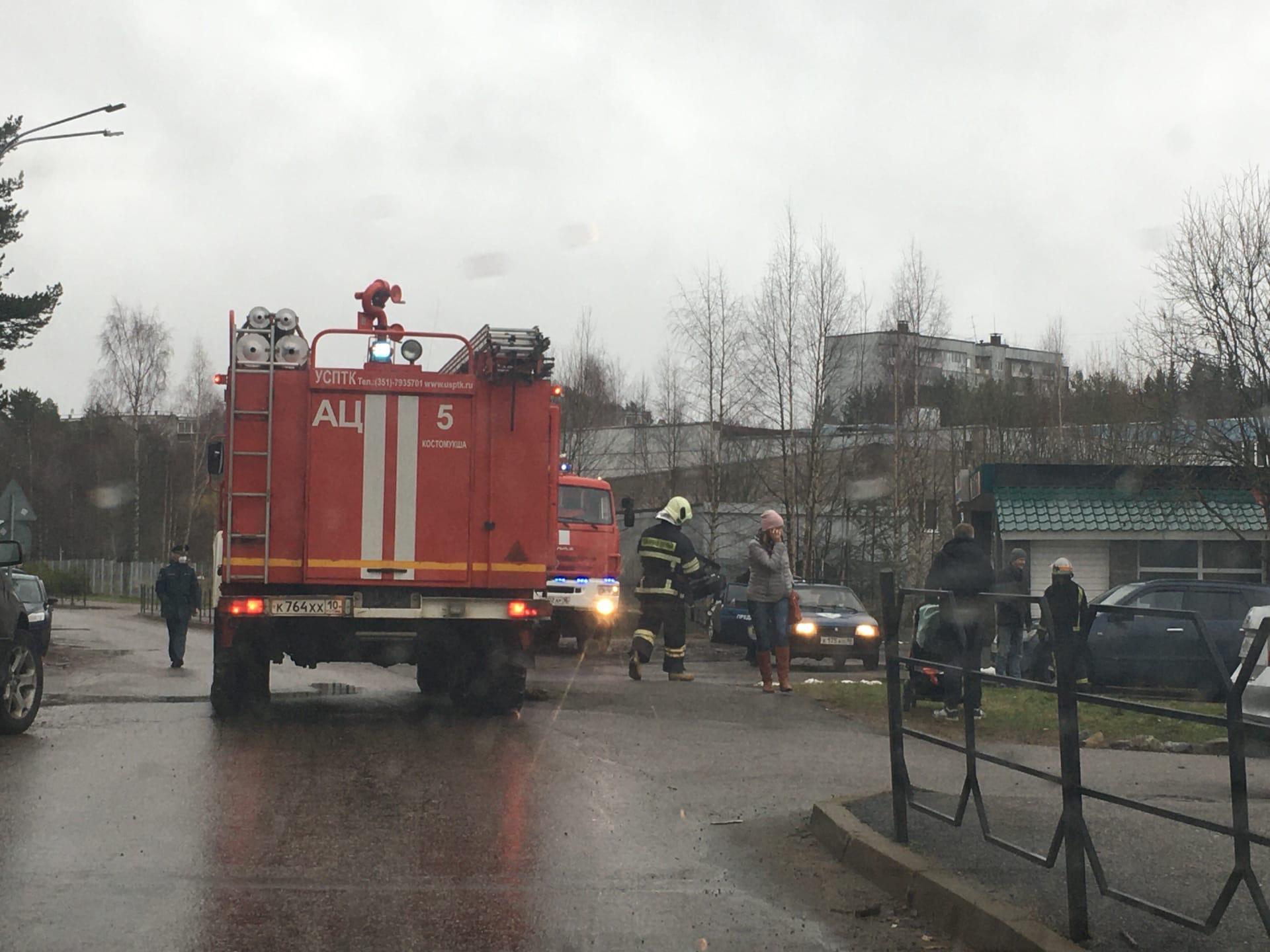 Костомукша пожар Ауринко детский сад