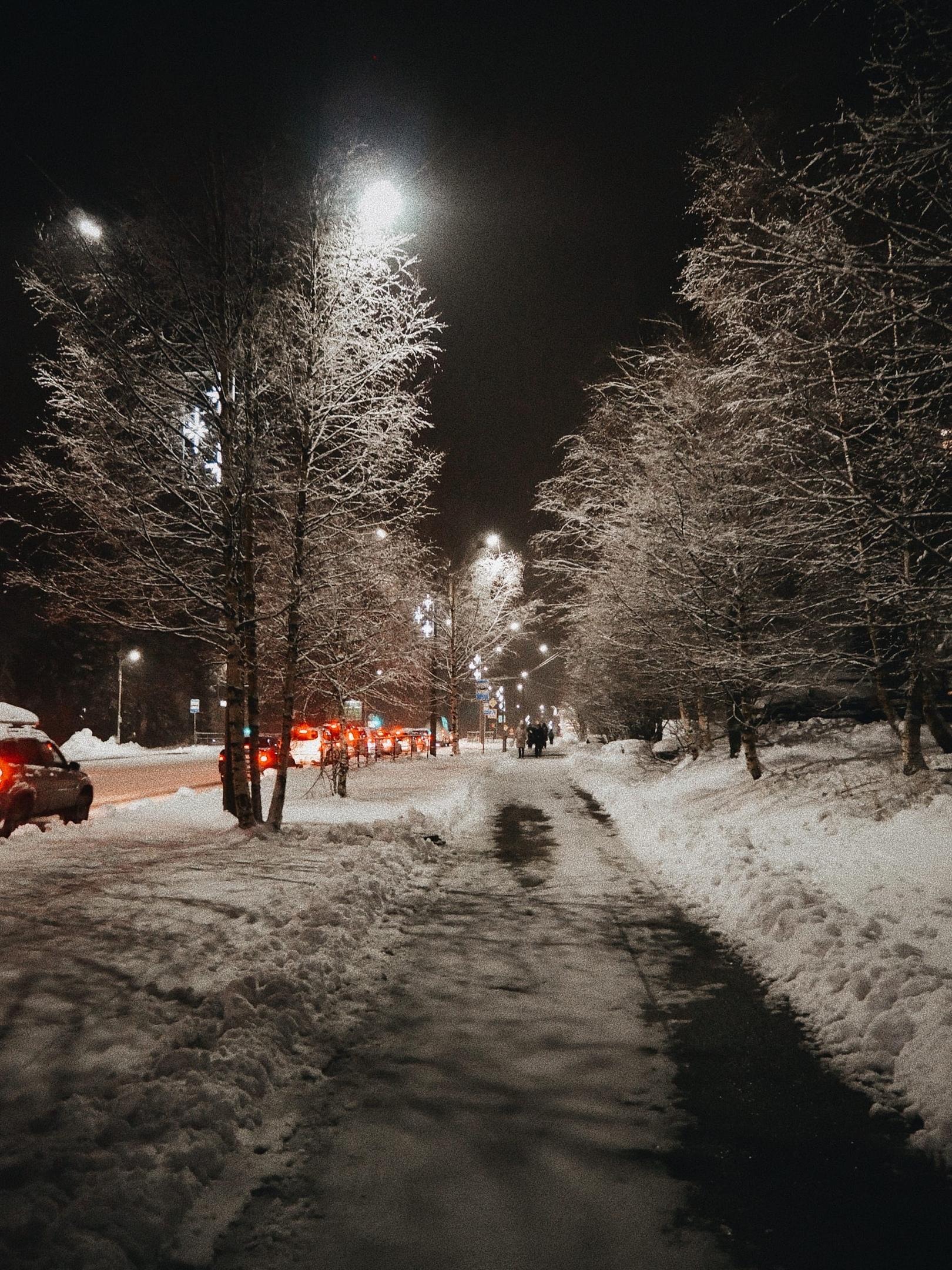 Костомукша зима снег