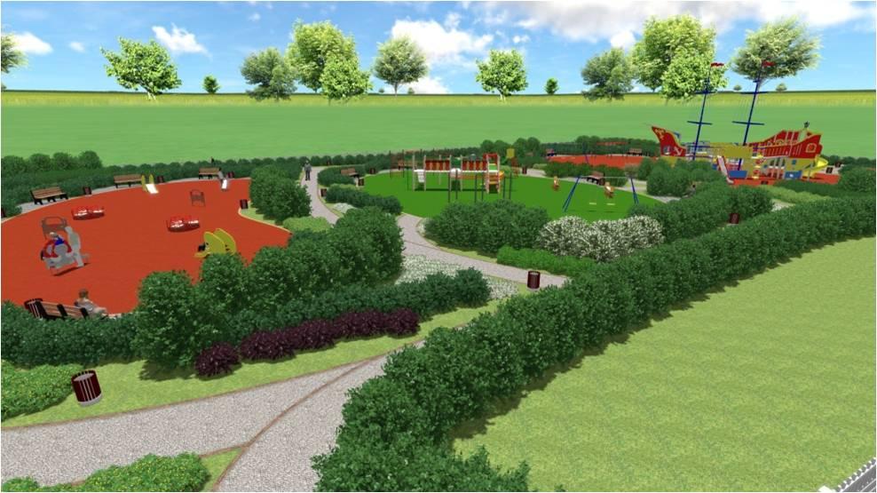Дизайн-проект детского городка на площадке в районе пр. Горняков