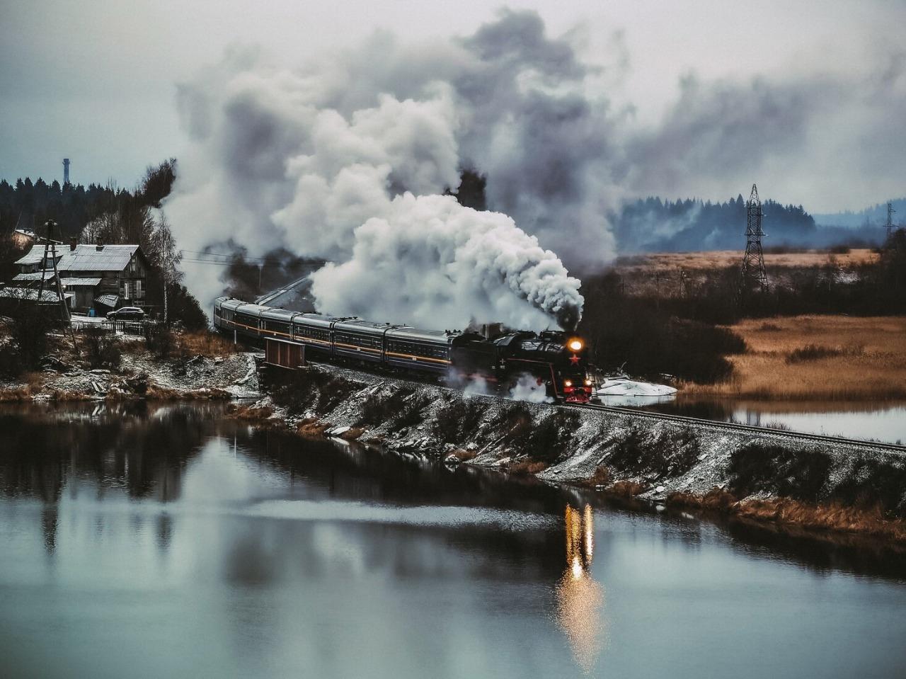 Александр Державин «Вид на Рускеальский экспресс с горы Хернямякин»