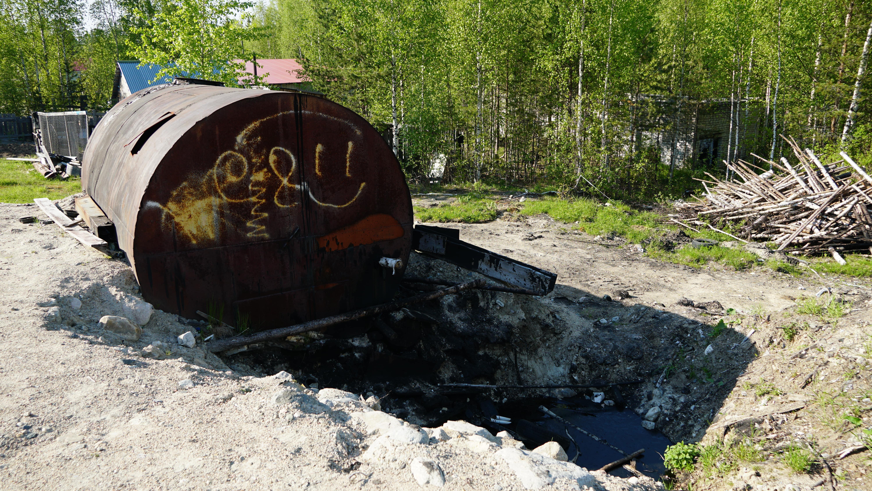 Костомукшский городской округ, поселок Заречный, разлив мазута