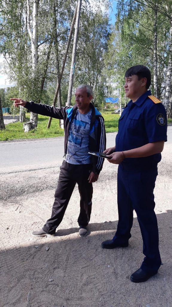 Басанг Анджиев проверяет показания со свидетелем